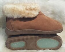 NEW Ladies Sheepskin Bootie Slippers Women Size 5 6 7 8 9 10 best warm wool shoe
