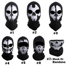 Hot ! 7 Styles Call Of Duty Full Face Skull Outdoor Balaclava Ghost Mask Costume