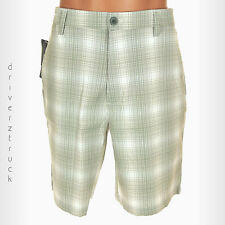 CHAPS GOLF 78 by Ralph Lauren Size 42 GRAY & WHITE Plaid GOLF SHORTS Flat Front