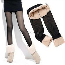 New Winter Warm Women's Thick Fleece lined Fur Tight Pencil Leggings Sexy Pants