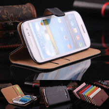 Luxury Flip Leather Wallet Stand Card Cover Case for Samsung Galaxy S3 III i9300