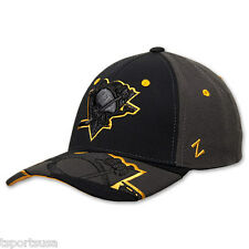 Pittsburgh Penguins Hat Zephyr Dark Ice Curved Bill Fitted Hat NHL Baseball Cap