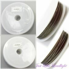 Tiger Tail Beading Wire 0.45mm -0.60mm SILVER 100m ~ jewellery, suncatcher craft