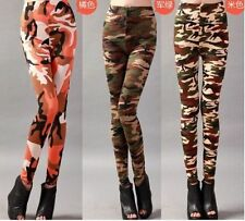 New Fashion Womens Sexy Camo Camouflage Stretch Trousers Tights Pants