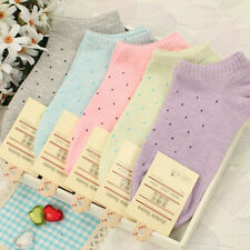 Girls FreshCute Polka Dot Socks Candy Colors Cotton Ankle Socks Soft Seasons Hot