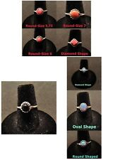 NATIVE AMERICAN ZUNI 925Sterling GEMSTONE RING Opal-Onyx-Turquoise-Lapis-Spiney