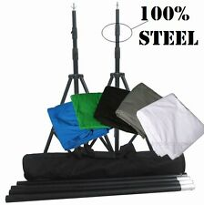 Pro heavy duty 10ft x 10ft 100% steel made backdrop stand kit muslin backdrop