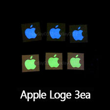 Glow in the dark Apple logo sticker 2color 3EA  For Iphone 6/5/5S/5C/4/4S