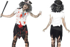 Zombie Police Woman Costume Smithys Costume Fancy Dress Play Dress Up UK Seller