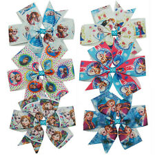 "Chic 3.5""Disney Kids Girl Frozen Anna Elsa Princess Ribbon Hair Bow Clip Gift"
