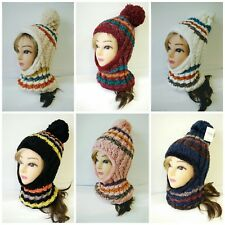 Lady Women Knit Winter Warm Hat Scarf Set Baggy Beret Beanie Cap Set