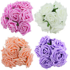 10PCS New Bridal One Bouquet Rose Flower Party Wedding Bridesmaid Decoration