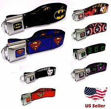 Superheroes Logo Seat Belt Style Color Seatbelt Belt Buckles-Multiple Characters