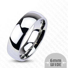"""Titan Men's Women's Ring """"Glossy Mirror"""" Silver Classic -- Jewellery From"""