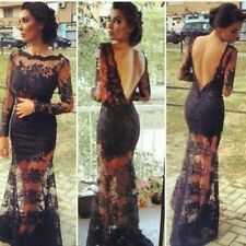 New Black Cocktail Dress Formal Party Evening Ball Prom Dresses Wedding Gown