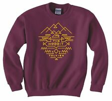 """LORD OF THE RINGS/ THE HOBBIT """"TOLKIEN RING AZTEC"""" SWEATSHIRT NEW"""