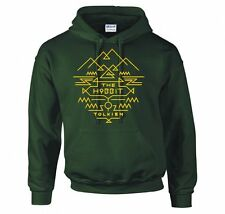 "LORD OF THE RINGS/ THE HOBBIT ""TOLKIEN AZTEC"" HOODIE NEW"
