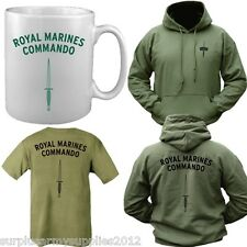 BRITISH NAVY ROYAL MARINES COMMANDO GIFT SET T-SHIRT + HOODIE + MUG ARMY