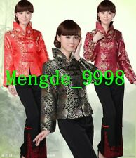 Chinese-style Costumes Women Tang Suit Gorgeous Satin Women Jacket/Coat 3 Color