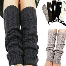 Women Girls Stunning Winter Knit Crochet Leg Warmers Legging 5 Colors