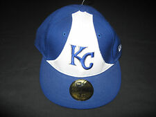 New Era 59Fifty Fitted Kansas City Royals Cap /Hat Blue and White NWT