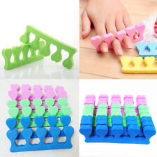 Hot New 10pcs Nail Art Salon Soft Finger Toe Separator Pedicure Manicure Tool