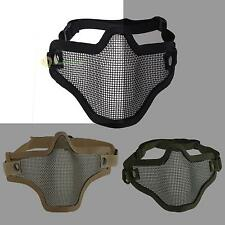 New Tactical Hunting Metal Half Face Mask Mesh Airsoft Paintball Protective