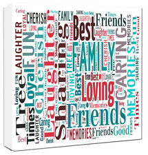 Word Art Canvas Personalised Family Canvas Gift Word Typography Canvas