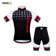 New Men Cycling Bicycle Bike Comfortable Shirt Outdoor Jersey+Shorts Size M~3XL
