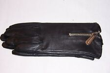 NEW MICHAEL KORS MK BLACK LEATHER GLOVES MSRP $88 535266