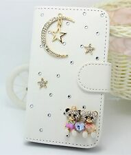 Bling Sky Wallet Card Holder PU Leather Flip Pouch Case Cover for Sony Phones