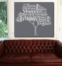 Family Tree Word Art Canvas Typography Canvas