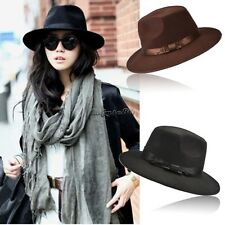 New Unisex Women Vintage Blower Jazz Hat Trilby Cap Fedora Style Hats CaF8