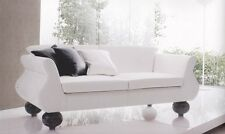 Two-seat sofa handcrafted in Italy. 2 seater. Coating in eco-leather or fabric