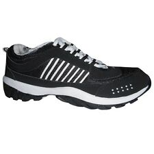 Binqo Sports Cool Air Black and White Running Shoes