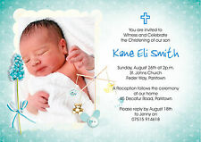FULL COLOUR Christening Invitations for BOYS - Personalised 4u
