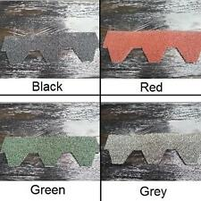 HEXAGONAL ROOF FELT TILES SHINGLES PACK OF 21 ASPHALT BITUMEN SELF ADHESIVE