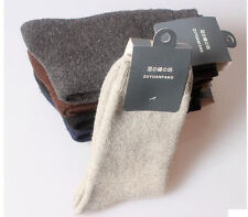 1 Pairs New Pure & Comfortable & Warm Mens Wool Cashmere Socks One Size Fits all