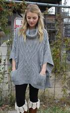 NEW Mystree Anthropologie Boho Mod cloth Here I Come Poncho Sweater S-M-L