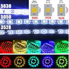 12V 3528 5050 5630 SMD 5M RGB 300 LED Light Flexible Strip Bombillas Waterproof