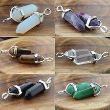 Amazing Rock Crystal Gemstone Healing Point Chakra Nice Pendant Bead Necklace