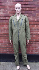 Original RAF Aircrew MK14B Overalls Pilots Flying Suit OD/Green Size 8