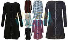 NEW WOMENS BOW BACK DIAMANTE SEQUIN KNITTED LONG SLEEVE SWING MINI DRESS 8-14