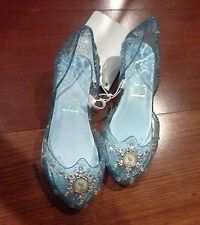 NEW DISNEY STORE FROZEN ELSA LIGHT UP COSTUME SHOES SPARKLE 9 10 11 12