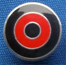 MOD TARGET BADGE - IN BLACK - RED - BLACK - BOURNEMOUTH COLOURS - 16MM DIA DIA
