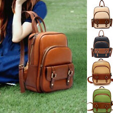 New Stylish Lady Backpack Satchel Vintage School Student Bag PU Leather Handbag