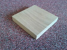 SOLID OAK WOODEN SQUARE PLAQUES WOOD BLANKS CRAFTS choice of sizes