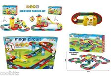 Kids Colorful Parking Lot  Cars & Colorful Tracks Pretend  Play Set