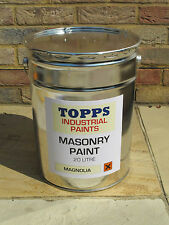 Masonry paint magnolia or white 20L BN