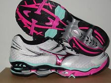 Mizuno Wave Creation 14 (W) Women's Running Shoes WHITE/PINK/GREEN100% AUTHENTIC